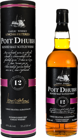 Poit Dhubh 12 year old blended scotch whisky