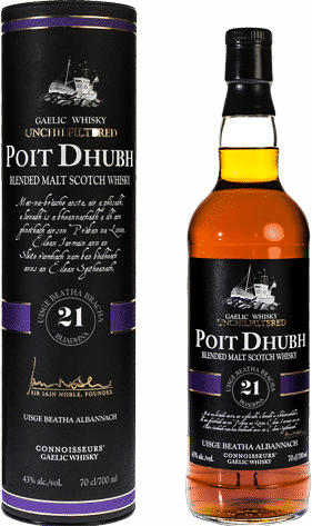 Poit Dhubh 21 year old blended scotch whisky
